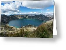 Quilotoa Crater Lake Greeting Card
