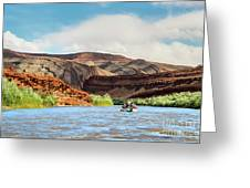Rafting On The San Juan River Greeting Card