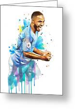 Raheem Sterling, Manchester City Greeting Card