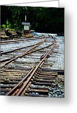 Railroad Siding Tracks Greeting Card