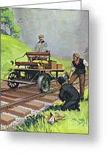Railway Automobile Greeting Card