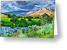 Rain Clouds On The Way To Sweetwater Greeting Card