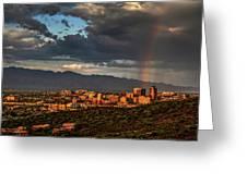 Rainbow Over Tucson Greeting Card by Chance Kafka
