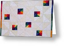 Rainbow Pinwheel Greeting Card