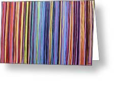 Rainbow Stripes Purple Gold 201912 Greeting Card