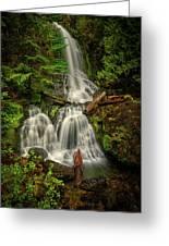 Rainier Falls Creek Falls Greeting Card