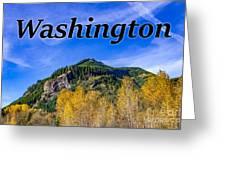 Randle Washington In Fall Greeting Card