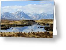 Rannoch Moor In Winter Greeting Card