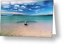Raspins Beach In Orford On The East Coast Of Tasmania. Greeting Card