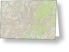 Reading Pennsylvania Us City Street Map Greeting Card