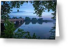 Receding Fog On The River Greeting Card