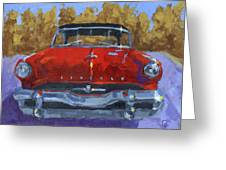 Red 1954 Lincoln Capri Greeting Card by David King