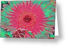 Red And Green Bloom Greeting Card