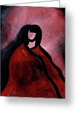Red Blanket Greeting Card