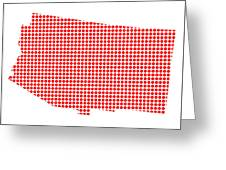 Red Dot Map Of Arizona Greeting Card