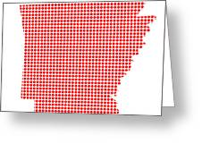Red Dot Map Of Arkansas Greeting Card