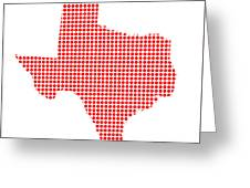 Red Dot Map Of Texas Greeting Card