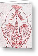 Red Face Greeting Card