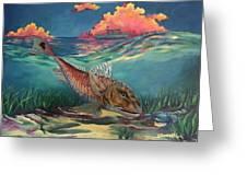 Red Fish Hunt Greeting Card