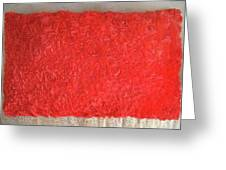 Red Pillow, Decorative. Ameynra Home Decor Greeting Card