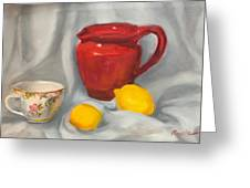 Red Pitcher Greeting Card