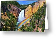 Red Rock Rainbow Greeting Card by Greg Norrell
