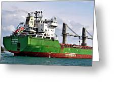 Redhead Freighter Greeting Card