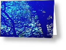 Reflection On A Blue Automobile 3 Greeting Card