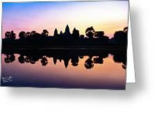 Reflections Of Angkor Wat - Siem Reap, Cambodia Greeting Card