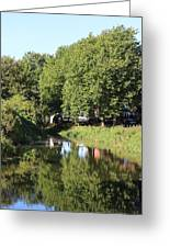 Reflections Of Bridgewater Canal - 1 Greeting Card