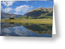 Reflections Of The Sawatch Range In The Autumn Greeting Card