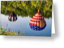 Reflections On The Androscoggin Greeting Card
