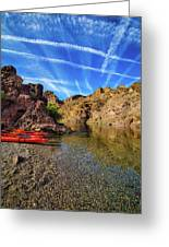 Reflections On The Colorado River Greeting Card