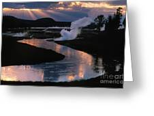Reflections On The Firehole River Greeting Card