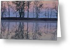 Reflections On The Lake Greeting Card by Ken Johnson
