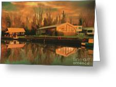 Reflections On The Wey Greeting Card