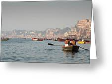 Religious River Of Ganges In India Greeting Card by Michalakis Ppalis