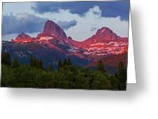 Reliving The Tetons Greeting Card