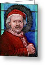 Rembrandt Santa Greeting Card