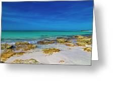 Remote Beach Paradise Turks And Caicos Greeting Card