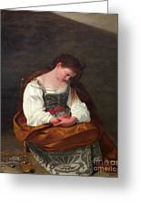 Repentant Mary Magdalene Greeting Card