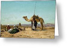 Rest In The Syrian Desert, 19th Century Greeting Card