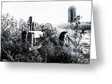 Retired John Deere Tractor 1 Greeting Card