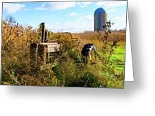 Retired John Deere Tractor 2 Greeting Card