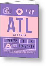 Retro Airline Luggage Tag 2.0 - Atl Atlanta United States Greeting Card