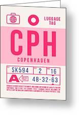 Retro Airline Luggage Tag 2.0 - Cph Copenhagen Denmark Greeting Card