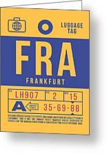 Retro Airline Luggage Tag 2.0 - Fra Frankfurt Germany Greeting Card