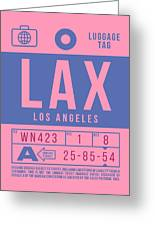 Retro Airline Luggage Tag 2.0 - Lax Los Angeles International Airport United States Greeting Card