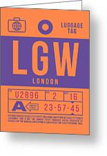 Retro Airline Luggage Tag 2.0 - Lgw London Gatwick Airport United Kingdom Greeting Card