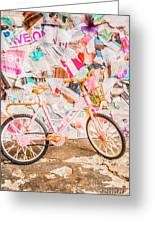 Retro City Cycle Greeting Card